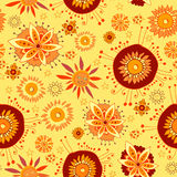 Endless floral pattern in autumnal theme Royalty Free Stock Images