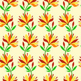 Endless floral pattern. Stock Images