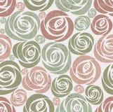 Endless floral vintage pattern. Royalty Free Stock Photos