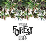 Endless forest design Stock Images