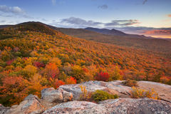 Endless forests in fall foliage, New Hampshire, USA Royalty Free Stock Photos