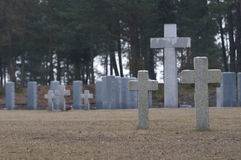 Endless graveyard in Poland Stock Photography