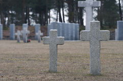 Endless graveyard in Poland. Second Word War Stock Image