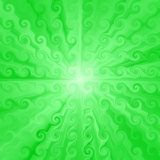 Endless green marble generated shapes texture Royalty Free Stock Photography