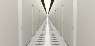 Endless hallway Stock Photo