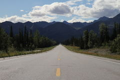 Endless highway / alaska Royalty Free Stock Image