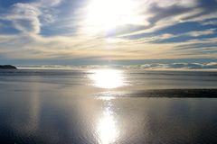 Endless horizon. Beautiful view from the coast over the atlantic ocean royalty free stock images