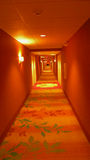 Endless Hotel Hallway Royalty Free Stock Photo