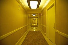 Endless hotel rooms in yellow in Las Vegas, NV Stock Photos