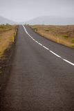 Endless Iceland Highway Stock Images