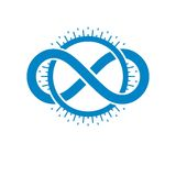 Endless Infinity Loop conceptual logo, vector special sign. Creative and conceptual sign Royalty Free Stock Image
