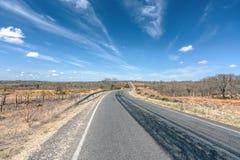 Endless Infinity Road travel Brazil Countryside at Cariri Paraib stock image