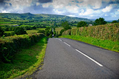 Endless irish road Stock Photos