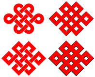 Endless knot isolated. On white background Stock Photo