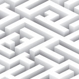 Endless Labyrinth. Seamless Background Pattern Royalty Free Stock Photography