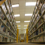 Endless Library Stacks Royalty Free Stock Photography