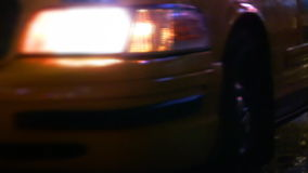 Endless Line of NYC Yellow Cabs. A never ending stream of New York City taxis. Shot on HD. Manual focus depth of Field about 5 feet. Circa 2007 stock footage