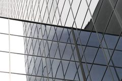 Endless line of windows on an office building Stock Images
