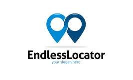 Endless Locator Logo. Minimalist and modern location logo template. Simple work and adjusted to suit your needs Royalty Free Stock Photography
