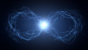 Endless loop of moving energy particles Royalty Free Stock Images