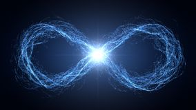 Endless loop of moving energy particles Royalty Free Stock Photography
