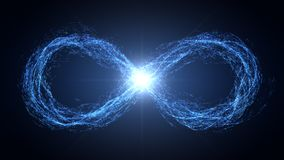 Endless loop of moving energy particles Royalty Free Stock Image