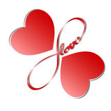 Endless love5. Symbol of endless love, wings of a butterfly in the form of heart Royalty Free Stock Photos