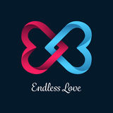Endless love vector with linking hearts Stock Images
