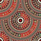 Endless mandala. Endless round ornament pattern with tribal ethnic motif Stock Image