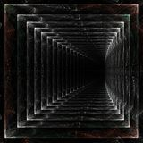 Endless marble tunnel. Endlessfractal abstract endless tunnel marble color stretching away into the void marble tunnel vector illustration