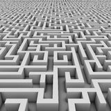 Endless maze 3d illustration Stock Photos