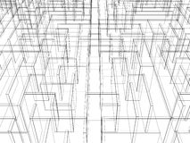 Endless maze 3d illustration Stock Images