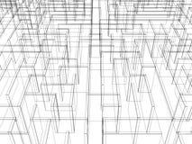 Endless maze 3d illustration Stock Images