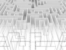 Endless maze 3d illustration Stock Photography