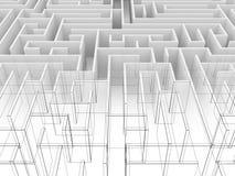 Endless maze 3d illustration Stock Photography