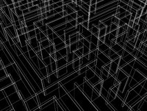 Endless maze 3d illustration Royalty Free Stock Photography