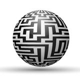 Endless maze with spherical shape Royalty Free Stock Photography