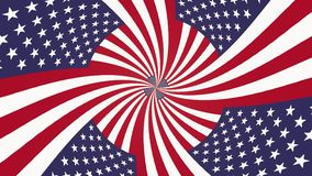 Endless mesmeric hypnotic spiral USA flag seamless loop animation background new quality cool nice beautiful 4k stock