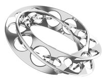 Endless metal ring Royalty Free Stock Images