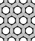 Endless monochrome symmetric pattern, graphic design. Geometric Stock Photography