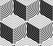 Endless monochrome symmetric pattern, graphic design. Geometric Royalty Free Stock Photo
