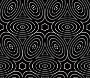 Endless monochrome symmetric pattern, graphic design. Geometric Royalty Free Stock Images