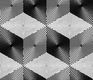 Endless monochrome symmetric pattern, graphic design. Geometric Royalty Free Stock Image