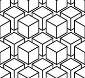 Endless monochrome symmetric pattern, graphic design. Geometric Royalty Free Stock Photo