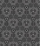 Endless monochrome symmetric pattern, graphic design. Geometric Royalty Free Stock Photos