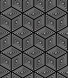 Endless monochrome symmetric pattern, graphic design. Geometric Royalty Free Stock Image