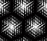 Endless monochrome symmetric pattern, graphic design. Geometric Stock Photos