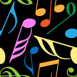 Endless music pattern Royalty Free Stock Photography