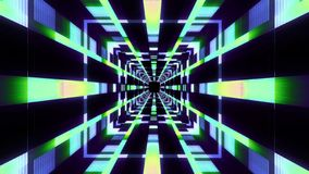 Endless neon lights cyber data vr tunnel motion graphics illustration background new quality futuristic cool nice stock images