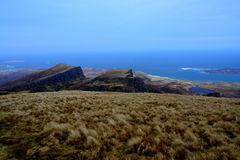 Endless ocean from the summit. Endless Atlantic Ocean from the summit of Quiraing Stock Images